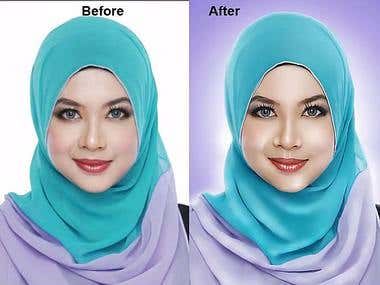 Airbrush Dodge and burn Retouching
