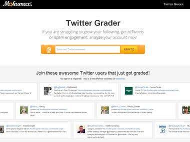 Twitter Grader Website