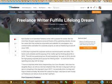 Kym's Freelancer Case Study