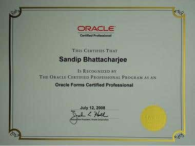 Oracle 9i Forms Developer Certified Professional (OCP)