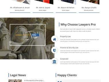 Ansari Solicitor Firm -Responsive WordPress theme integrate