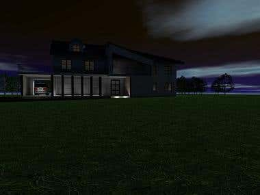 Exterior 3D Render House