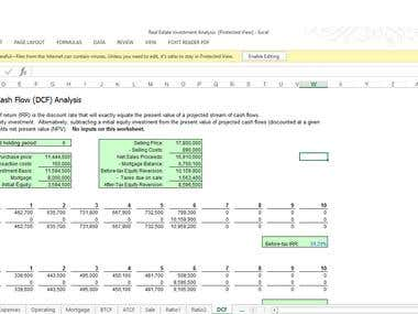 Financial valuation/investment analysis