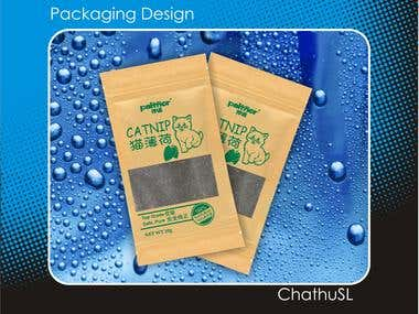 Create Packaging design for catnip