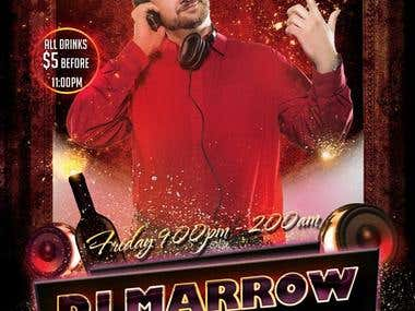 Poster design for DJ Morrow