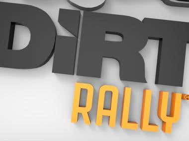 Dirt Rally 3D Logo Animation