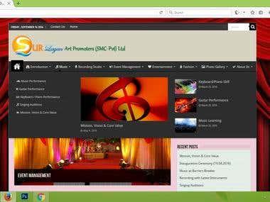 Sur Lagan Art Promoters (Web Project)