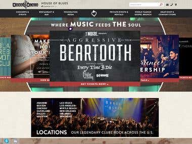 Music website design and development