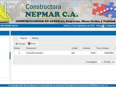 Sistema de gestión de obras de construcción
