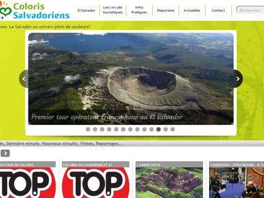 Coloris Salvadoriens website development