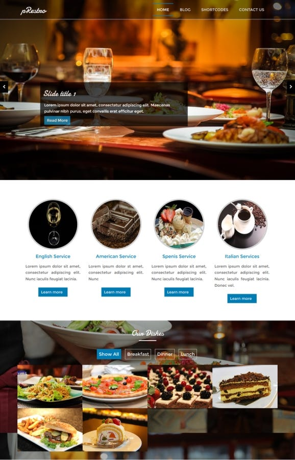 pRestro restaurant Theme | Freelancer