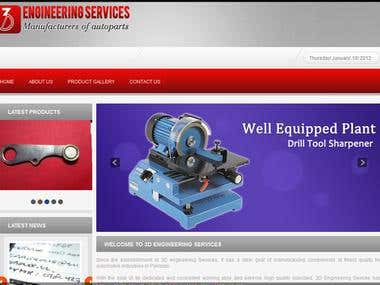 Designed Website www.3dengineeringservices.com.pk
