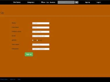 Login form in HTML