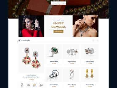 Golden Trunk Homepage Design