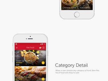Mobile app design for a Food Delivery App
