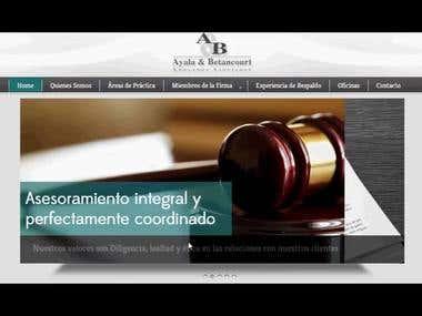 Ayala & Betancourt - Web Design