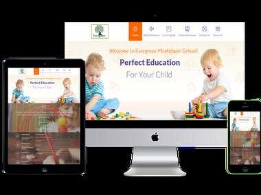 Web site for Evergreen Montessori School