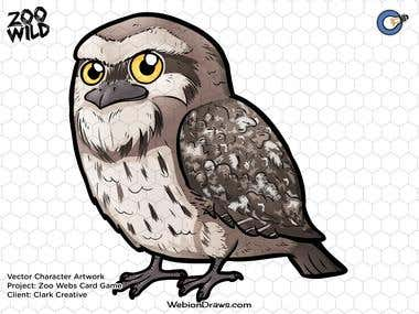 """""""Tawny Frogmouth"""" Zoo Webs Card Game"""