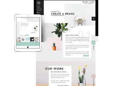 Mint Lane Studio Website