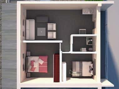 3D Interior Floor plan