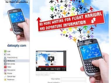 Facebook Fanpage design (DatosPTY)
