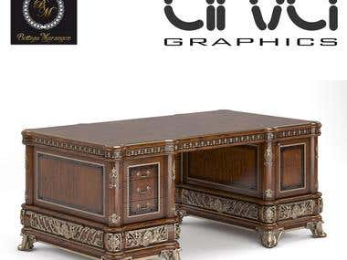 Furniture 3d modeling and visualization