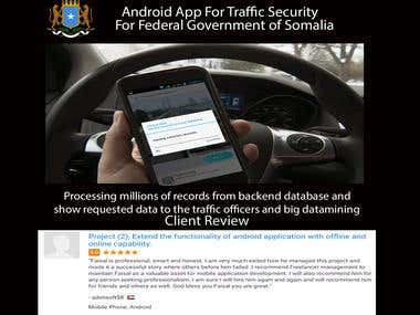 Millions of vehicles data processing (Android)