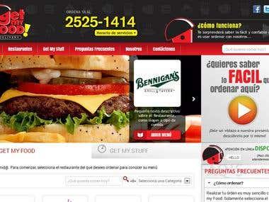 Get My Food website design and development