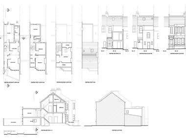 Measured Survey + Planning drawings