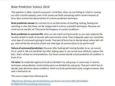 Brain Prediction 2014