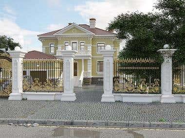 Визуализация дома, г. Алматы