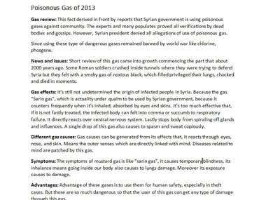 Poisonous Gas of 2013