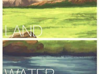 land water