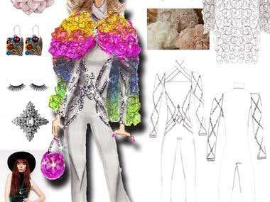 Fashion designs and illustrations