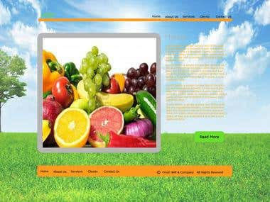 Fresh Fruits and Vegetables Website