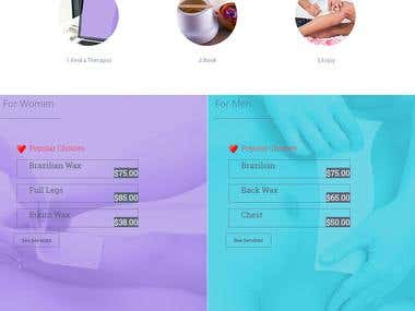 Custom wordpress website for SPA