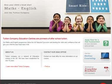 Tuition Company Website