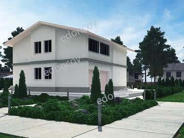 exteriors 3d models, rendering