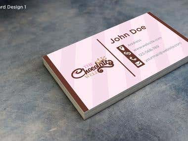 The Chocolate Well Business Card Design