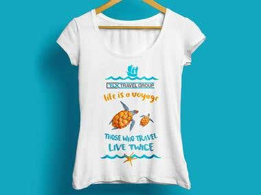 T-shirt design for woman