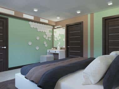 3d modeling of bedroom