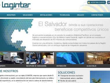 Loginter website design and development