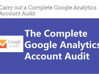 Carry out a Complete Google Analytics Account Audit