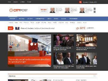 Citypost |  Modern WordPress News Theme