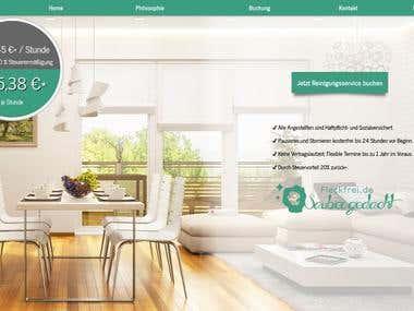 Reinigungsservice inkl. Buchung und Kundenbereich