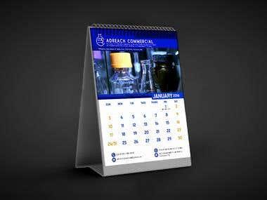 Desk Calendar Design for Adreach Commercial