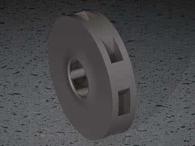 Steel impeller