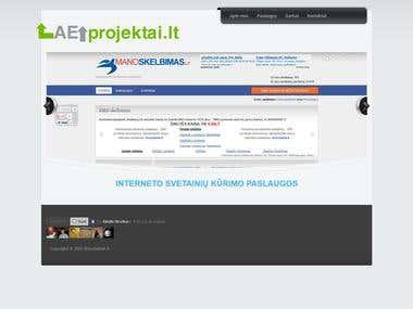 Portfolio website http://www.aeprojektai.lt