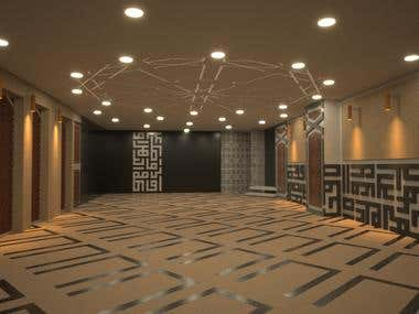 Interior design and rendering for a prayer hall