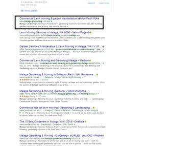 Top ranking in Google.com.au